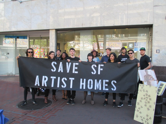 Protesters seek to save artist housing on Market Street