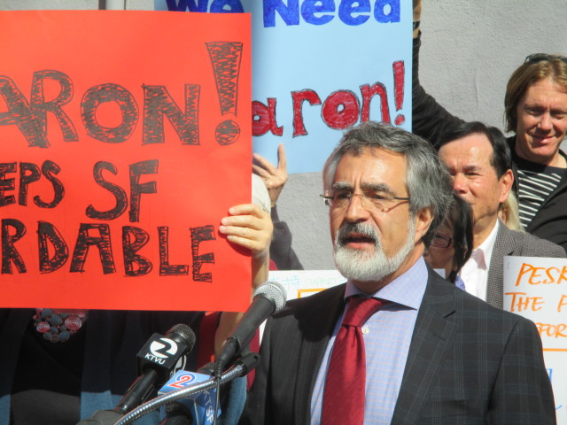 Aaron Peskin is the target of two wildly inaccurate mailers that hit this weekend