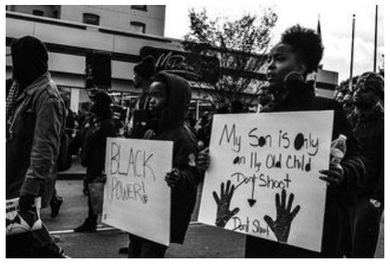 "Sunshine Velasco's photo of the 2015 Oakland Million Man March, included in ""Making a Scene"""