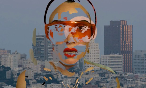 A video still from 'Last Stage' shows Maryam Rostami in the throes of future freak.