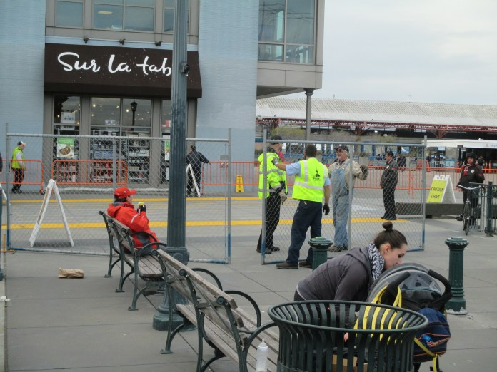 The Port made everything much more difficult by fencing off what would have been the protest area
