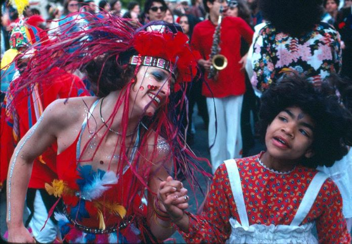 First year revelers at SF Carnaval '78. Photo: Lou Mattheis