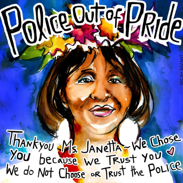 Janetta Johnson of the TGI Justice Project led the effort to withdraw from the parade