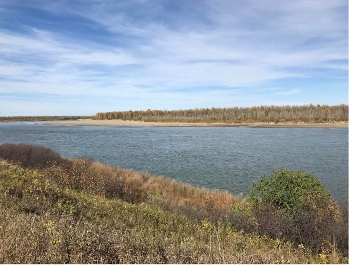 The Missouri River just outside Standing Rock is the source of fresh water for millions