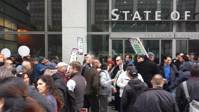 A large, loud crowd showed up to demand health-care reform