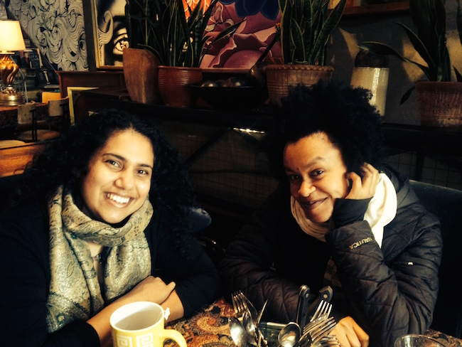 UnderCover founder Lyz Luke (left) and Music Director Meklit in conversation with 48 Hills.