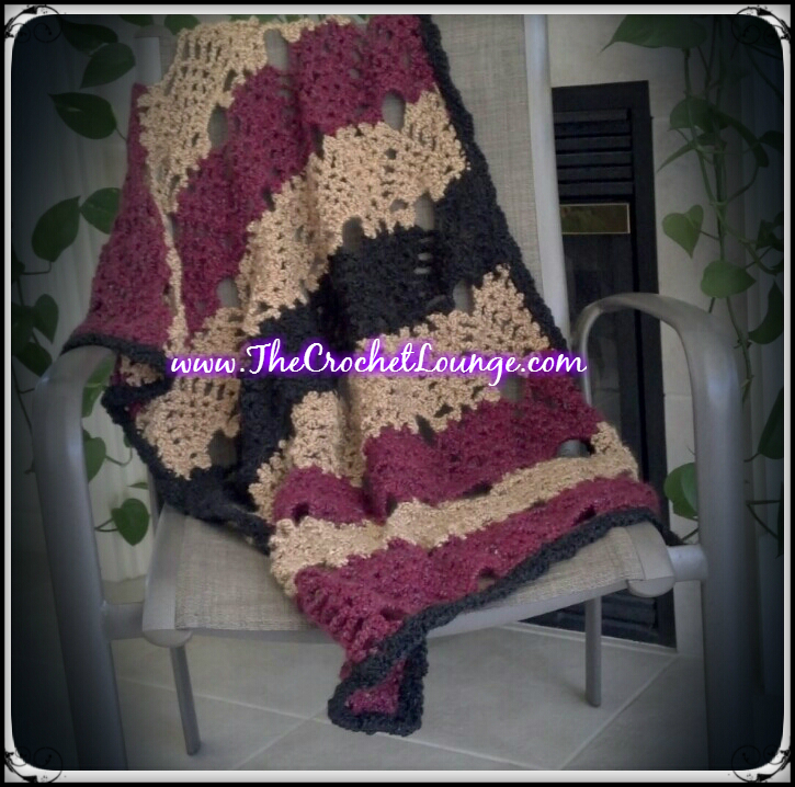 Throw Pattern Crochet Afghan Free Pineapple