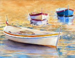 The Golden hour by Maryann Brail, watercolor