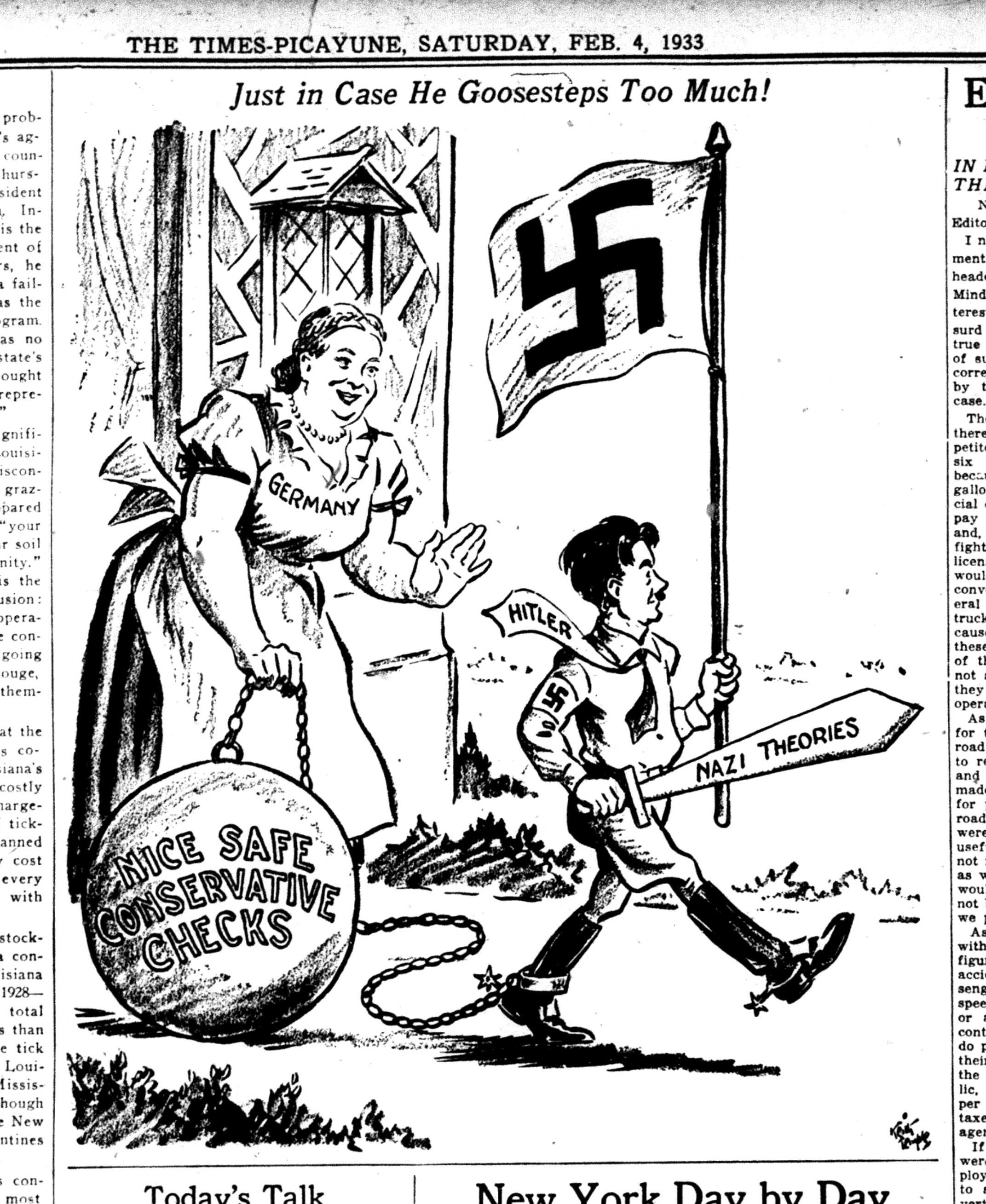 How The Us Press Soft Pedaled Hitler Hitler Cartoon