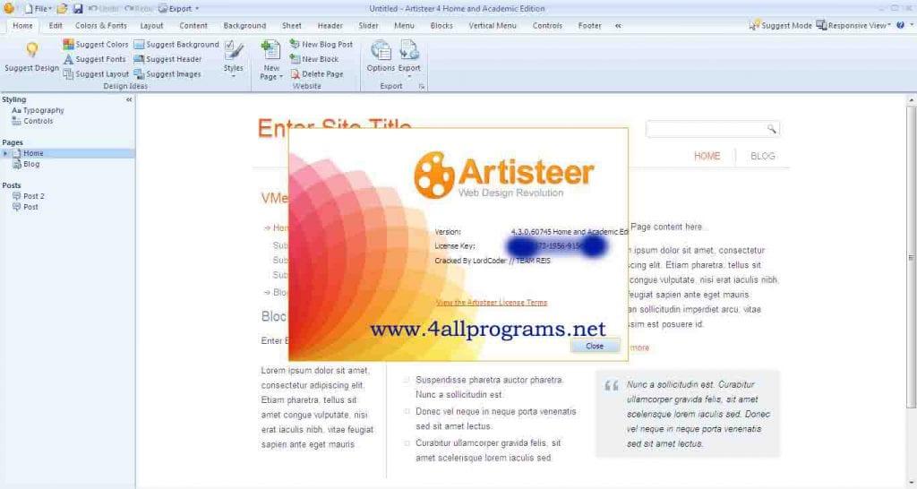 download artisteer 4.3 crack