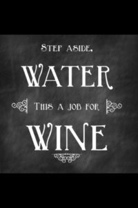 wine instead of water