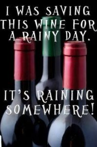 rainy day wine