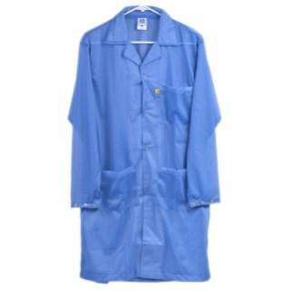 Blue Snap Cuff Lab Coat Bennett and Bennett
