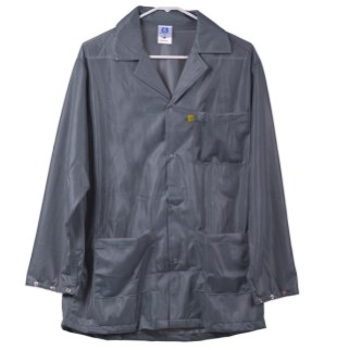 Gray Lightweight ESD Anti Static Smock
