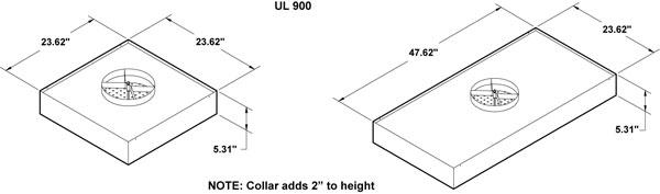 Terminal DIffuser Dimensions for HEPA Fan Units