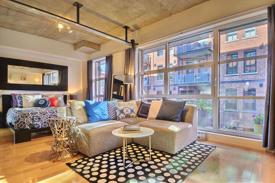 Bright And Cozy Urban Loft Style Condo In Montreal Canada