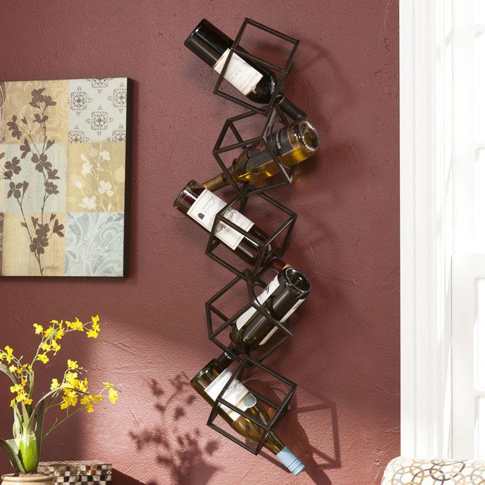 Wall Mounted Wine Racks In Modern Vintage Style