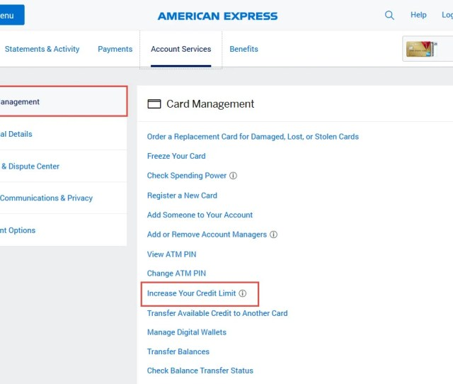 How To Request An Amex Credit Limit Increase Online