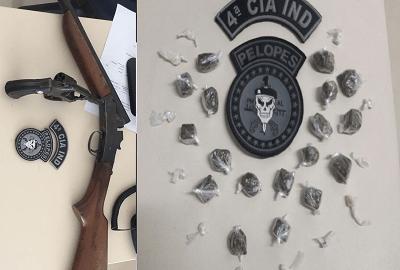 Materiais apreendidos com os suspeitos
