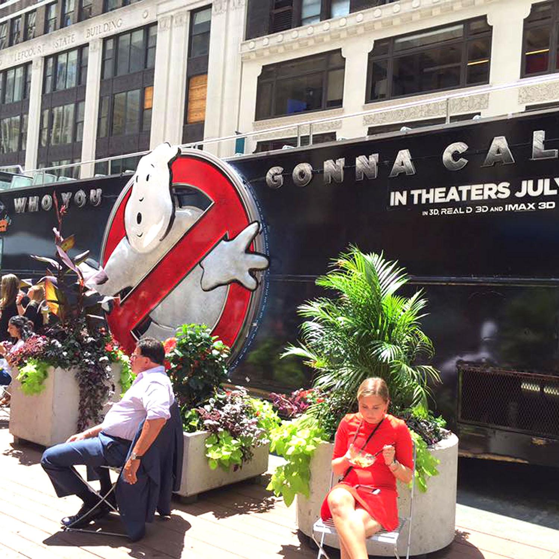 Ghostbusters bus in Midtown Manhattan New York