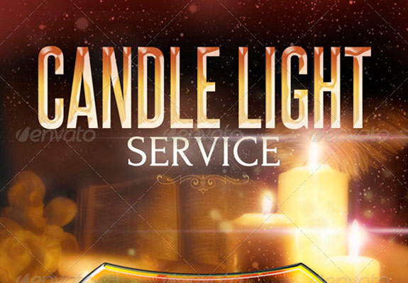 Candle-Light-Service-Flyer-Templates