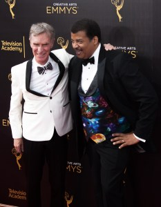 Bill Nye and Neil deGrasse Tyson Emmys@ Creative Arts 2016 Red Carpet 4Chion Lifestyle