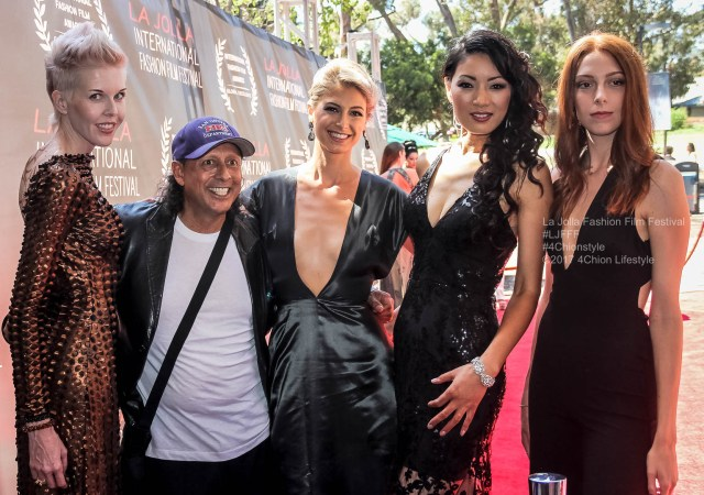 Thomas Desoto, Tabitha Lipkin, and Brooke Evangeline, La Jolla Fashion FIlm Festival 4chion lifestyle
