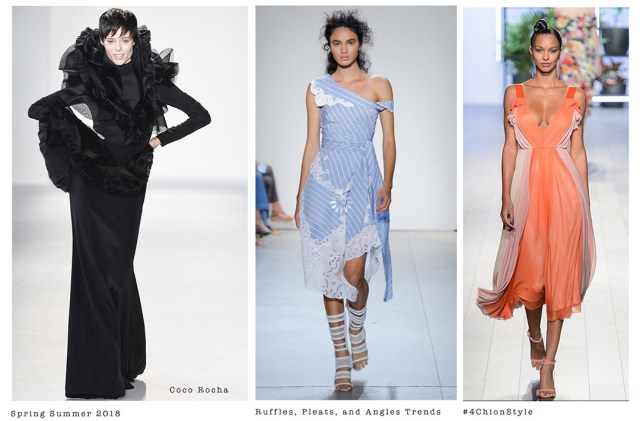 NYFW Spring Summer 2018 pleats, angles, ruffles 4Chion Lifestyle