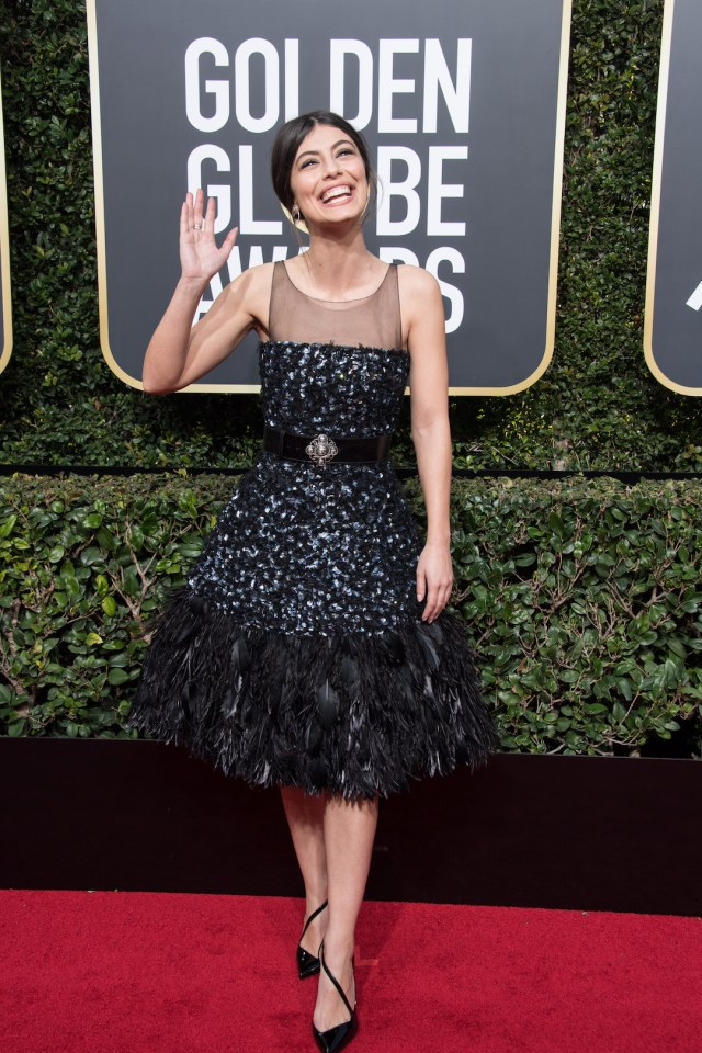 Alessandra Mastronardi attends the 75th Annual Golden Globes Awards 4chion lifestyle