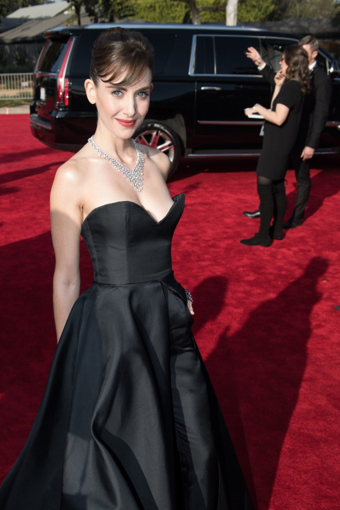 Alison Brie arrives at the 75th Annual Golden Globes Awards 4chion lifestyle