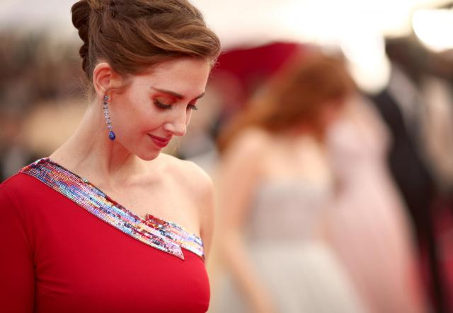 Alison Brie red carpet SAG Awards 4Chion Lifestyle