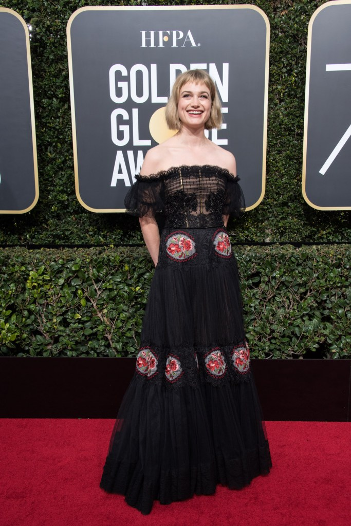 Alison Sudol arrives at the 75th Annual Golden Globes Awards 4chion lifestyle