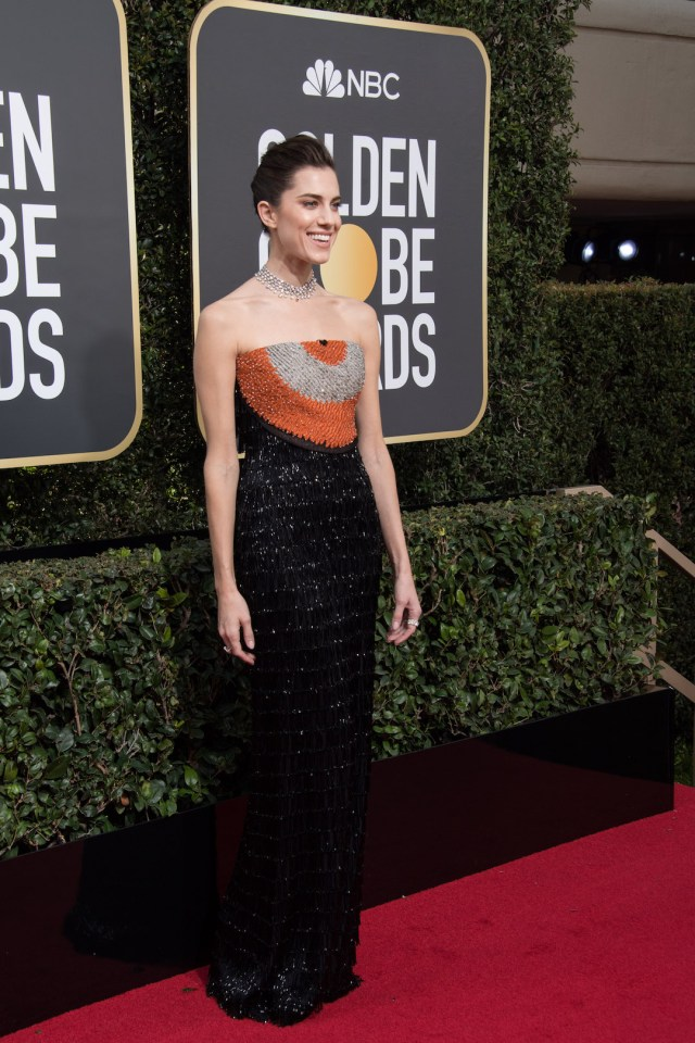Allison Williams arrives at the 75th Annual Golden Globes Awards 4chion lifestyle