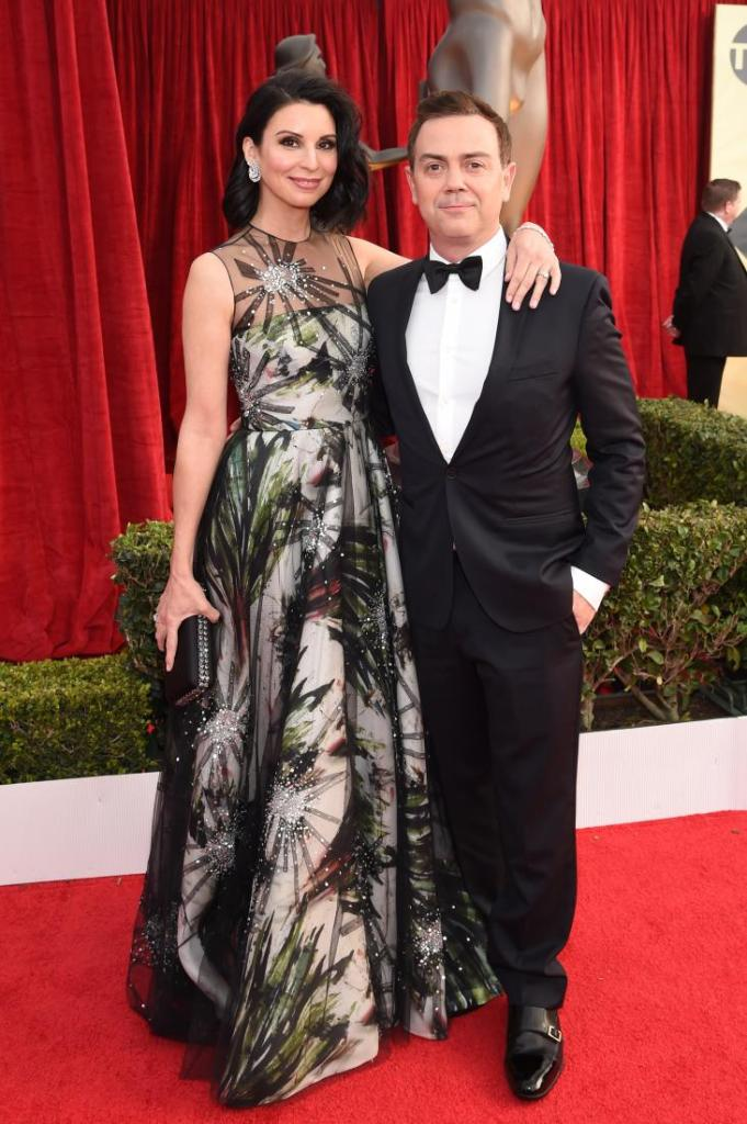 Beth Dover (L) and Joe Lo Truglio red carpet SAG Awards 4Chion Lifestyle