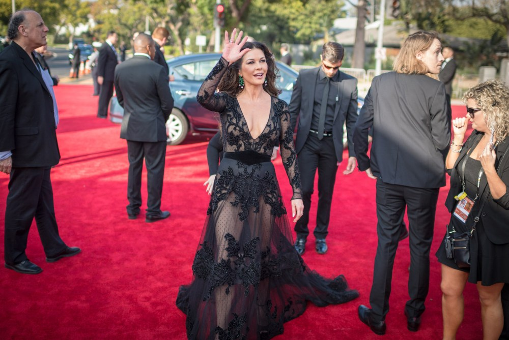 Catherine Zeta-Jones arrives at the 75th Annual Golden Globes Awards 4chion lifestyle