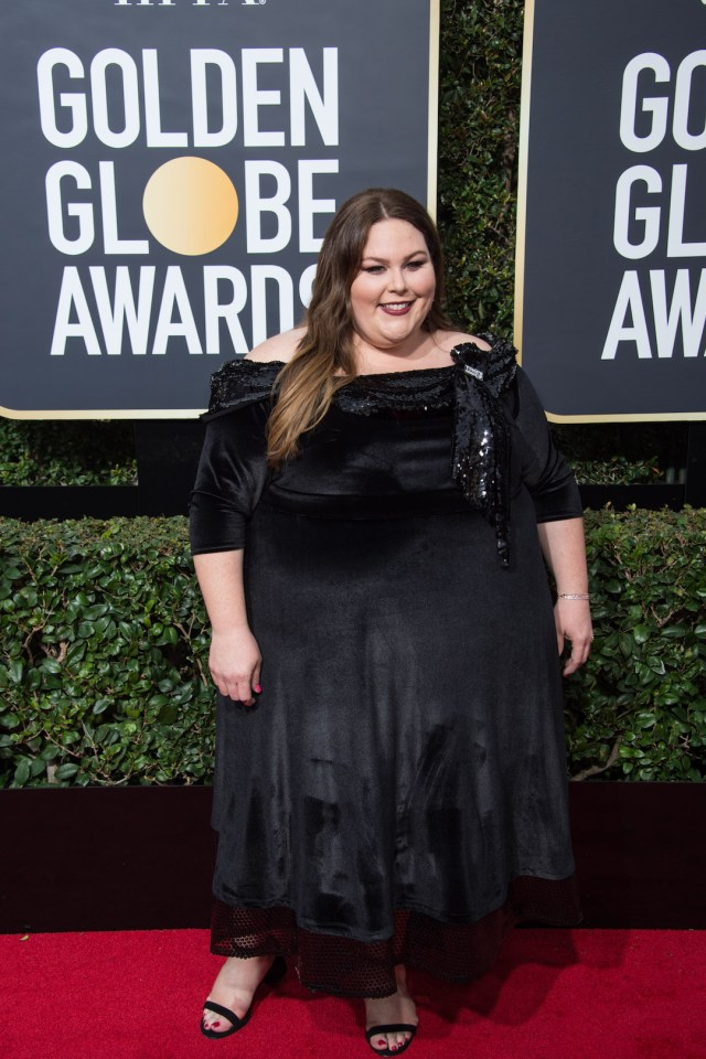 Chrissy Metz attends the 75th Annual Golden Globes Awards 4chion lifestyle