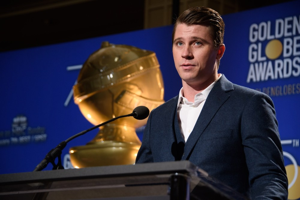 Garrett Hedlund at the 75th annual Golden Globe Awards nominations 4chion lifestyle