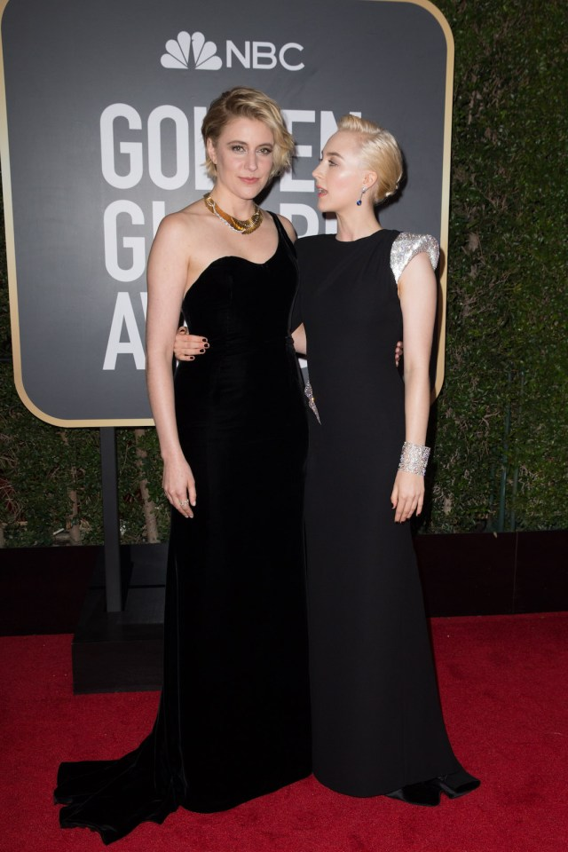 Greta Gerwig and actor Saoirse Ronan attend the 75th Annual Golden Globes Awards 4chion lifestyle