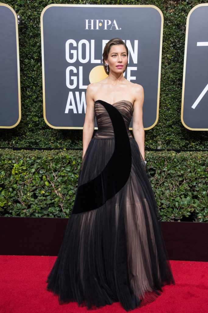 Jessica Biel attends the 75th Annual Golden Globes Awards 4chion lifestyle