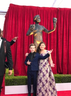 Mackenzie Hancsicsak red carpet SAG Awards 4Chion Lifestyle