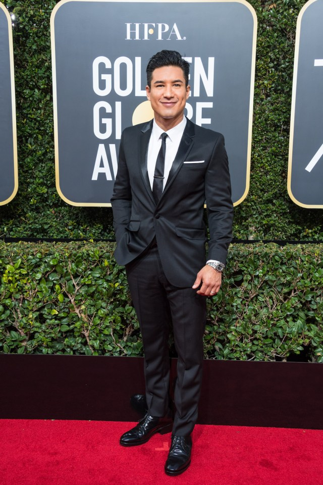 Mario Lopez arrives at the 75th Annual Golden Globe Awards 4chion lfiestyle