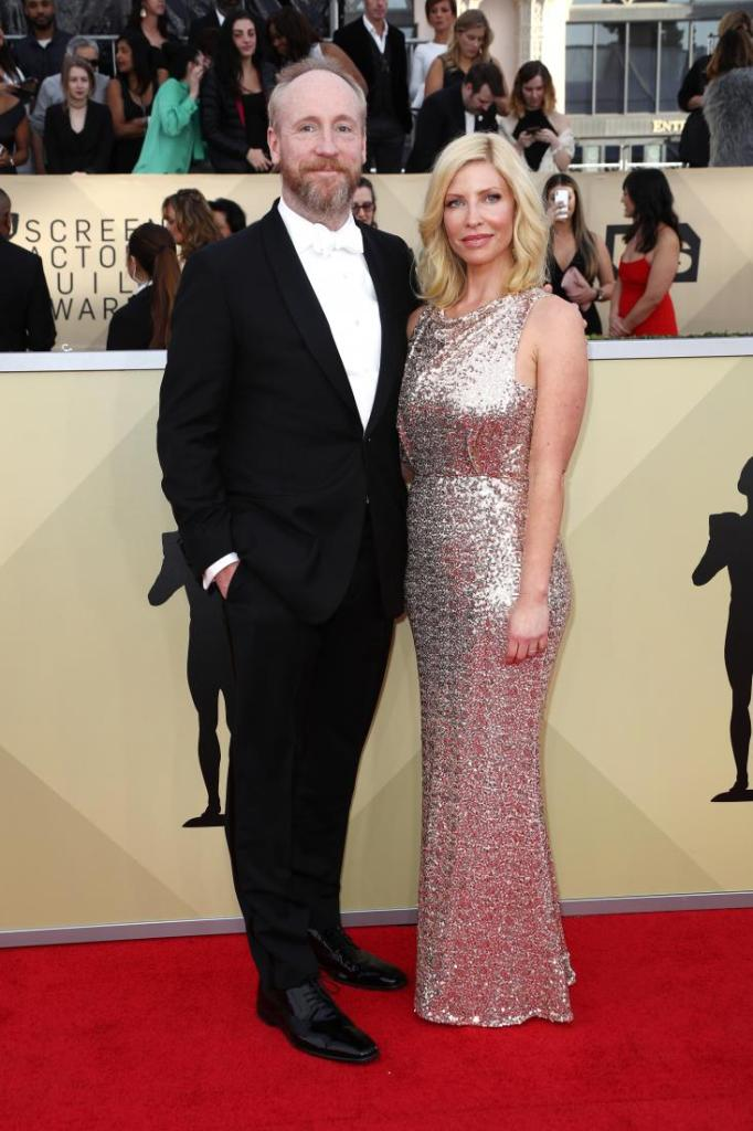Matt Walsh (L) and Morgan Walsh red carpet SAG Awards 4Chion Lifestyle