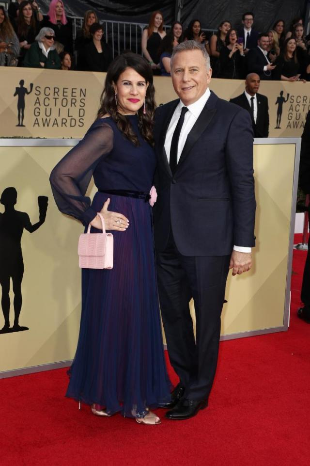Paula Ravets (L) and actor Paul Reiser red carpet SAG Awards 4Chion Lifestyle a