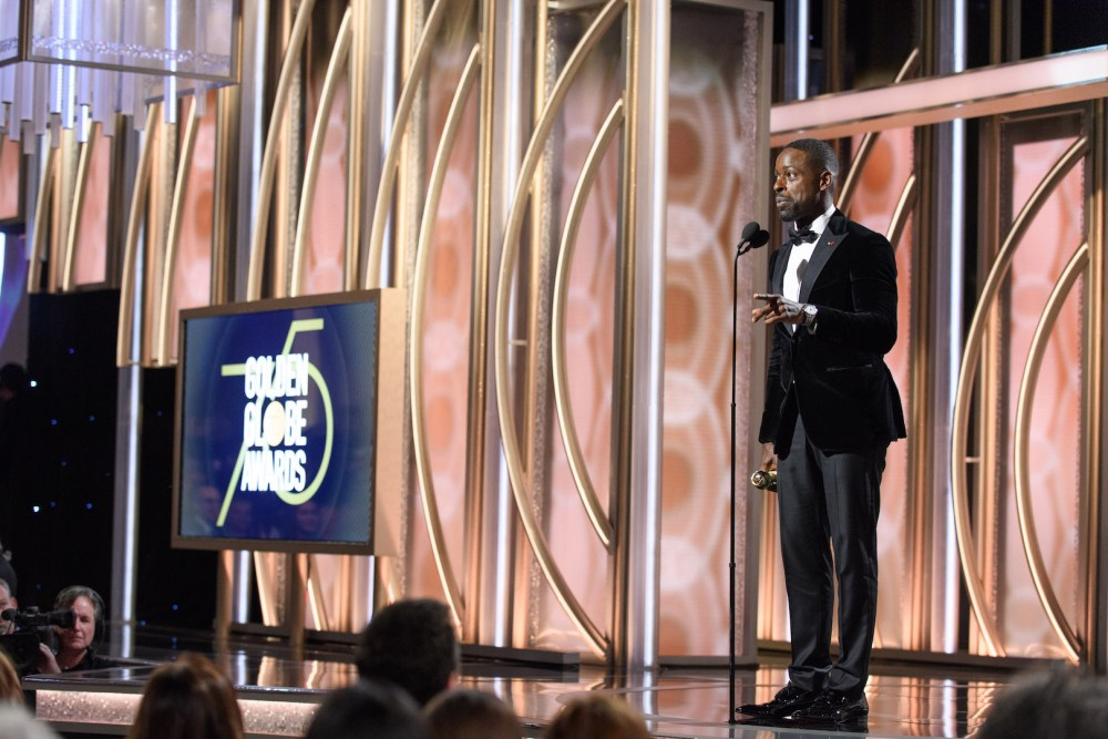 Sterling K. Brown accepts the Golden Globe Award 4chion lifestyle