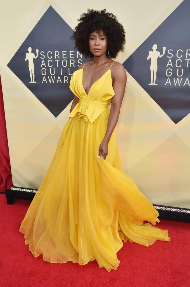 Sydelle Noel red carpet SAG Awards 4Chion Lifestyle