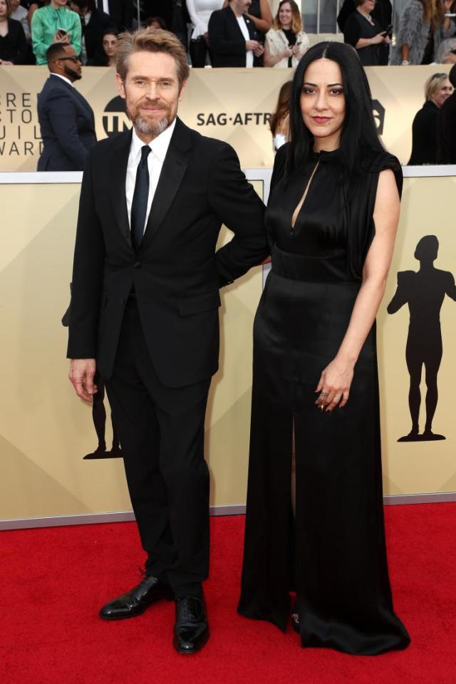 Willem Dafoe (L) and director Giada Colagrande red carpet SAG Awards 4Chion Lifestyle