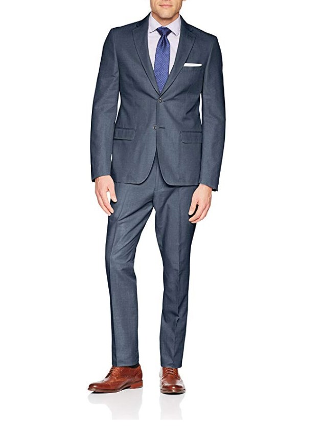 Calvin Klein Men's Mobridge Single Breast 2 Button Suit amazon ad 4chion lfiestyle