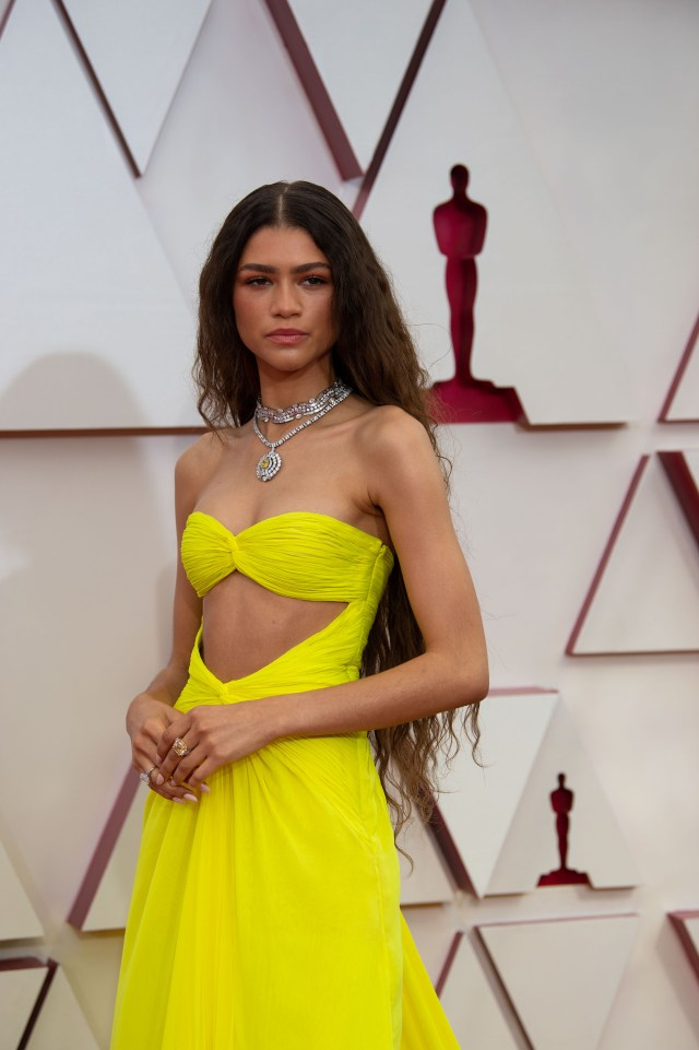 Zendaya at The Academy Awards red carpet 4Chion Lifestyle