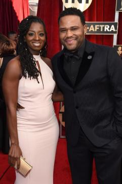 Alvina Stewart and actor Anthony Anderson