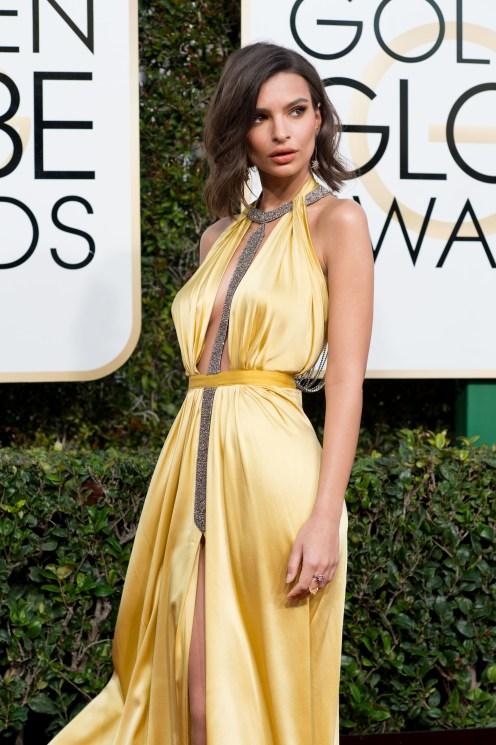 Emily Ratajkowski Golden Globes